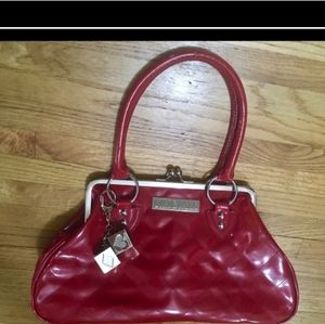 Lux De Ville Cherry Red Patent Handbag